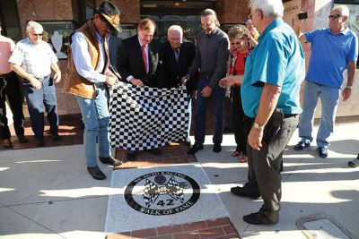 NC Auto Racing Walk of Fame downtown Mooresville NC