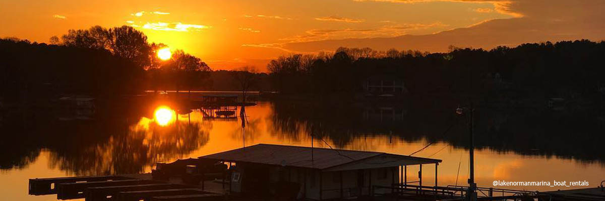 Lake Norman Sunset by @lakenormanmarina_boat_rentals