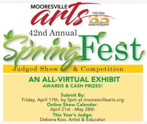Mooresville Arts 42nd Annual SpringFest @ Mooresville Arts (AN ALL-VIRTUAL EXHIBIT)