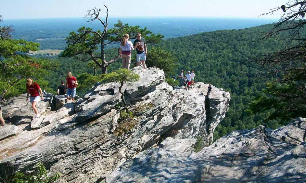 overlook at hanging rock state park
