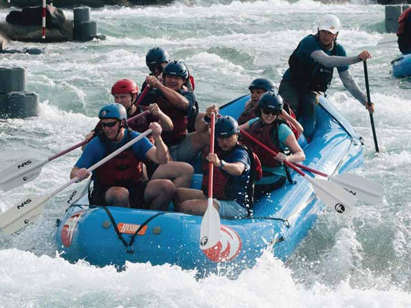 whitewater rafting near Mooresville at the US National Whitewater Center