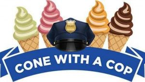 Cone with a Cop @ Bruster's Ice Cream